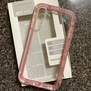 Pink LifeProof iPhone XS Max case